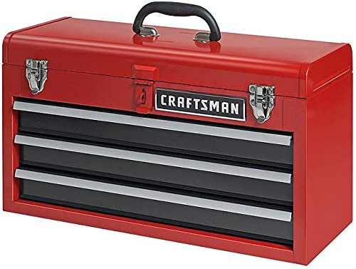 Craftsman 3-Drawer Metal Portable Chest Toolbox Red