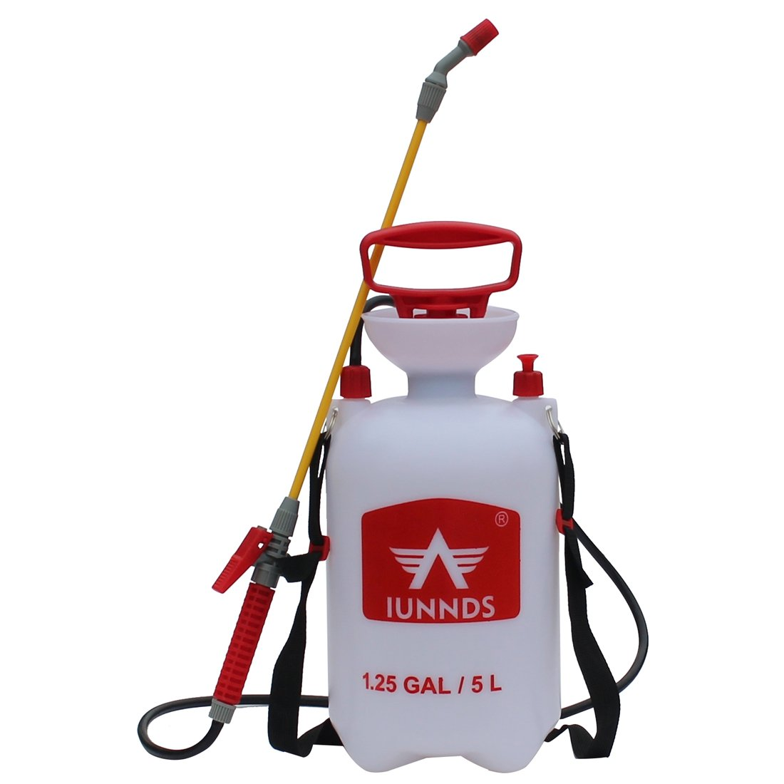 Sports God Lawn and Garden Pump Pressure Sprayer for Fertilizer,  Herbicides, Pesticides, Mild Cleaning Solutions and Bleach (1 3 Gallon (5L))