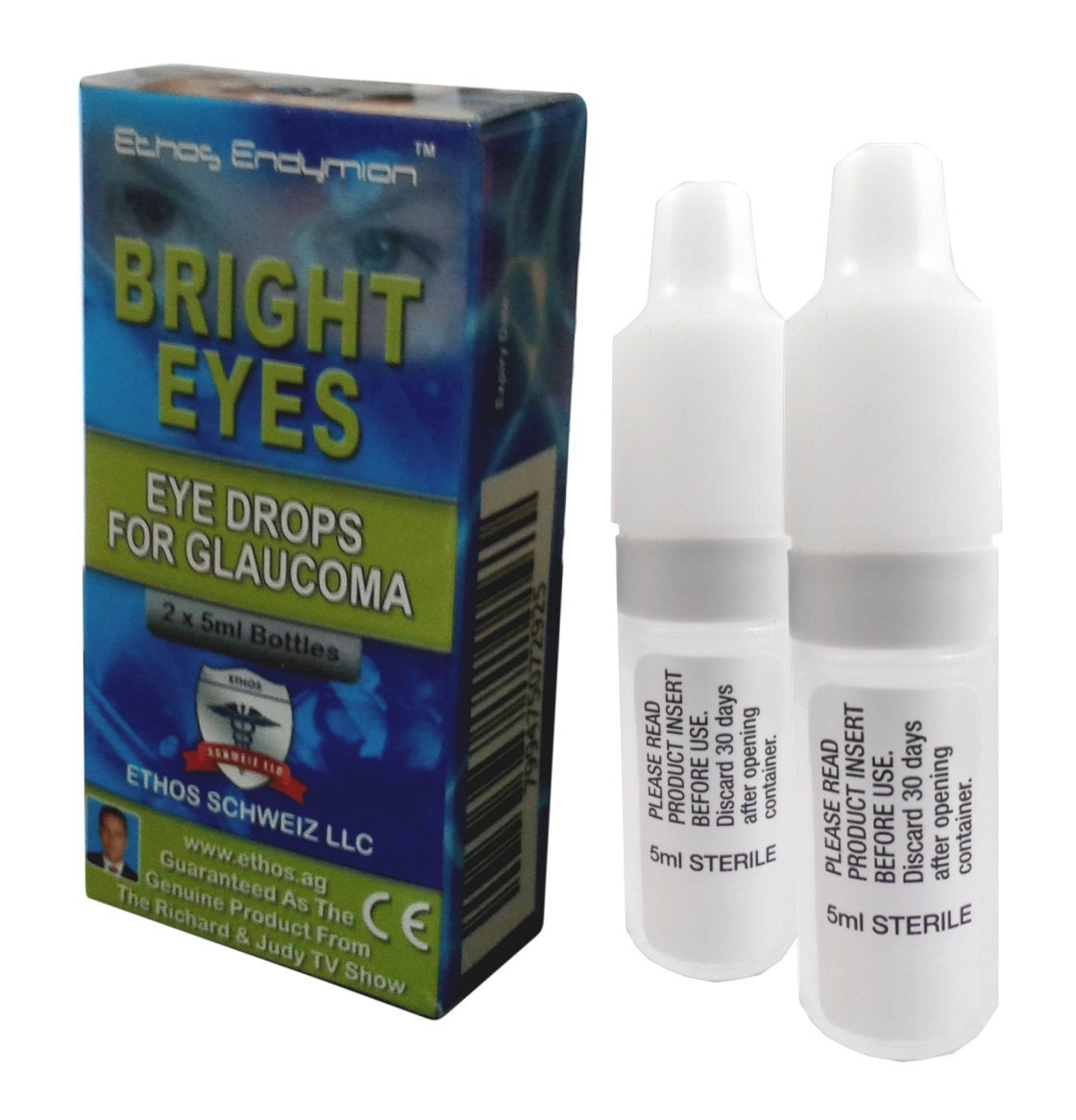 Ethos Bright Eyes™ Carnosine NAC Eye Drops - 2 x 5ml Bottles - NAC Eye Drops (Safe for Glaucoma Sufferers) - As Seen on UK National TV with Amazing Results! NAC n acetyl carnosine eye drops...