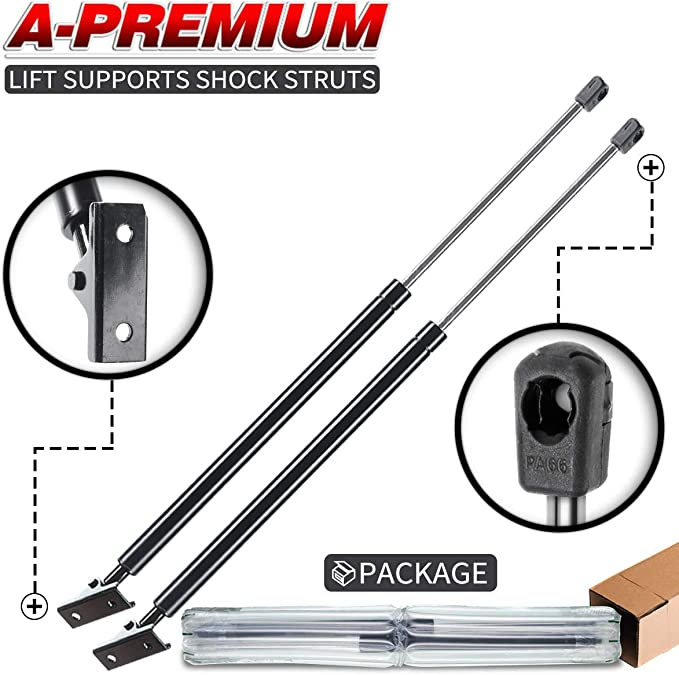 A-Premium Tailgate Rear Hatch Lift Supports Shock Struts Replacement for Jeep Cherokee 1984-1994 Wagoneer 2-PC Set