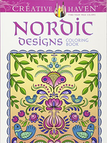 Creative Haven Deluxe Edition Nordic Designs Coloring Book (Creative Haven Coloring Books)