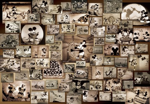 Tenyo Mickey Mouse Monochrome Black and White Film Movie Jigsaw Puzzle (1000 Piece) (Donald Duck Puzzles 1000 Piece compare prices)
