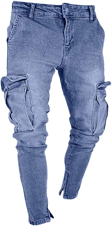 NUOVO Uomo Designer Slim Skinny Fit TUBI-Jeans Stretti Pantaloni Stretch Nero Blu