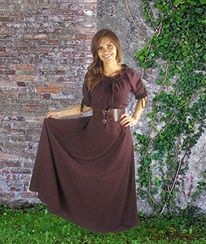 Beltaine Kleid Dark 36 46 38 Gewand 44 Wikinger Dreams Braun 40 42 Mittelalter HCHxwXAq
