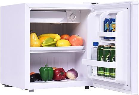 costway Mini frigorífico con congelador nevera y congelador ...