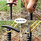 GIMEFIVE Plastic Spiral Tent Pegs Stakes Nail with