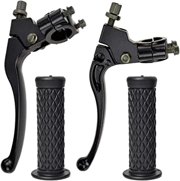 CRF80 XR CRF70 CRF XL Left Right 7//8 22mm Clutch Brake Handle Levers Perch with 7//8 Motorcycle Grips for Honda CR XR100 Pit Dirt Motor Bike XR80 7//8/Clutch/Brake by BOOTOP CRF100