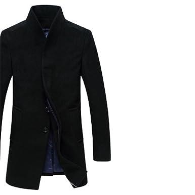 e5456b44665 Meetloveyou Winter Men Wool Trench Coat Men Long Trench Slim Fit Overcoat  Men Coats Fashion Trench