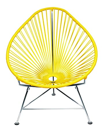 Superieur Amazon.com : Innit Designs Acapulco Chair, Yellow Weave On Chrome Frame :  Patio Lounge Chairs : Garden U0026 Outdoor