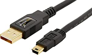 AmazonBasics USB 2.0 Cable - A-Male to Mini-B - 3 Feet (0.9 Meters)