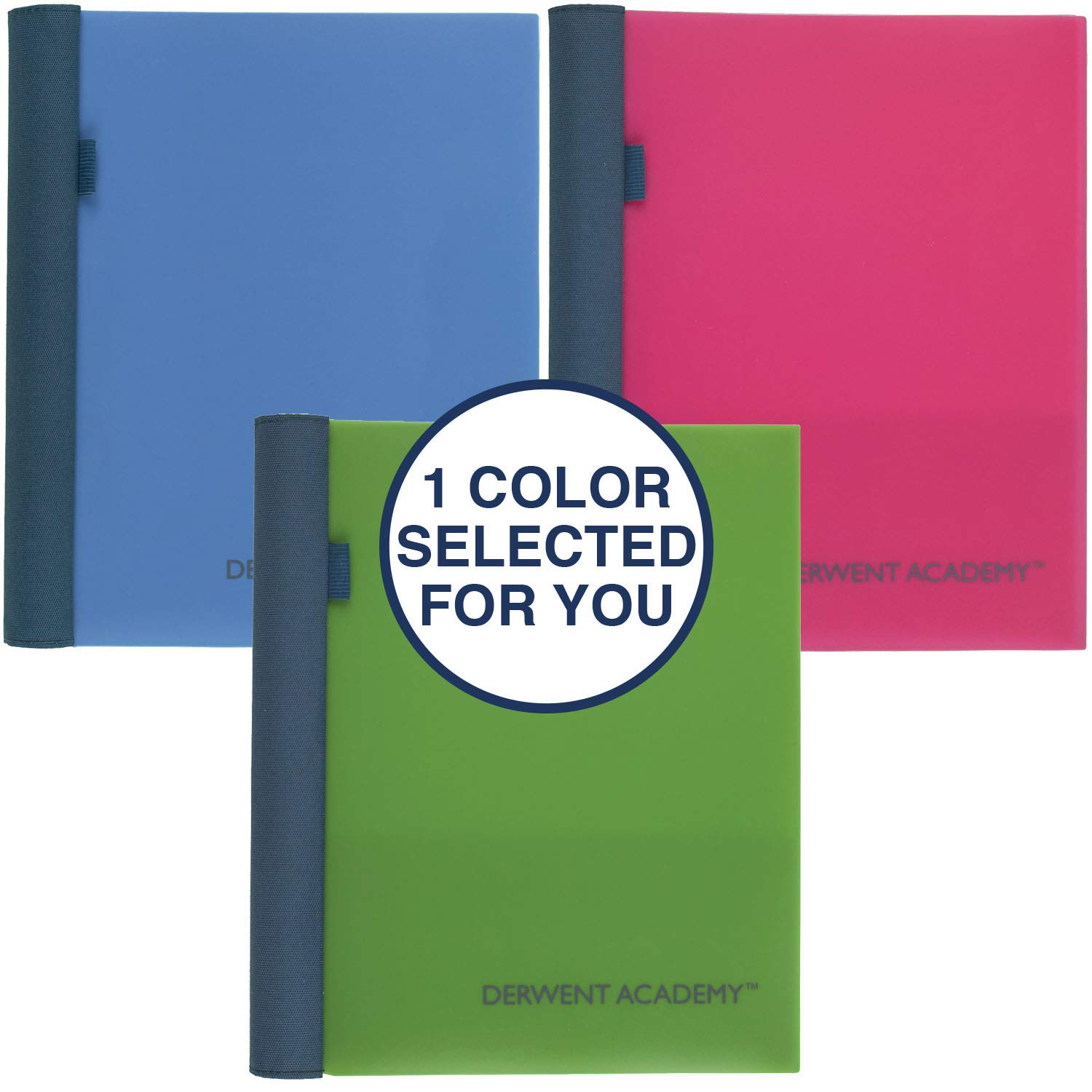 Derwent Academy Sketch Book, Heavyweight Paper, 11'' x 8-1/2'', 70 Sheets, Wirebound with Spiral Guard, Assorted Colors (54958)
