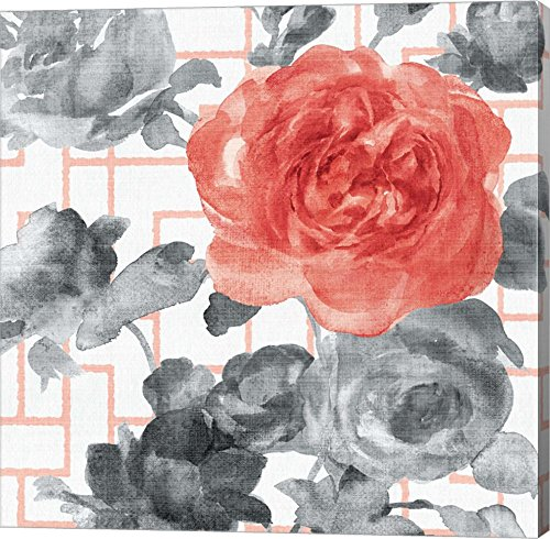 Geometric Watercolor Floral I by Danhui Nai Canvas Art Wall Picture,