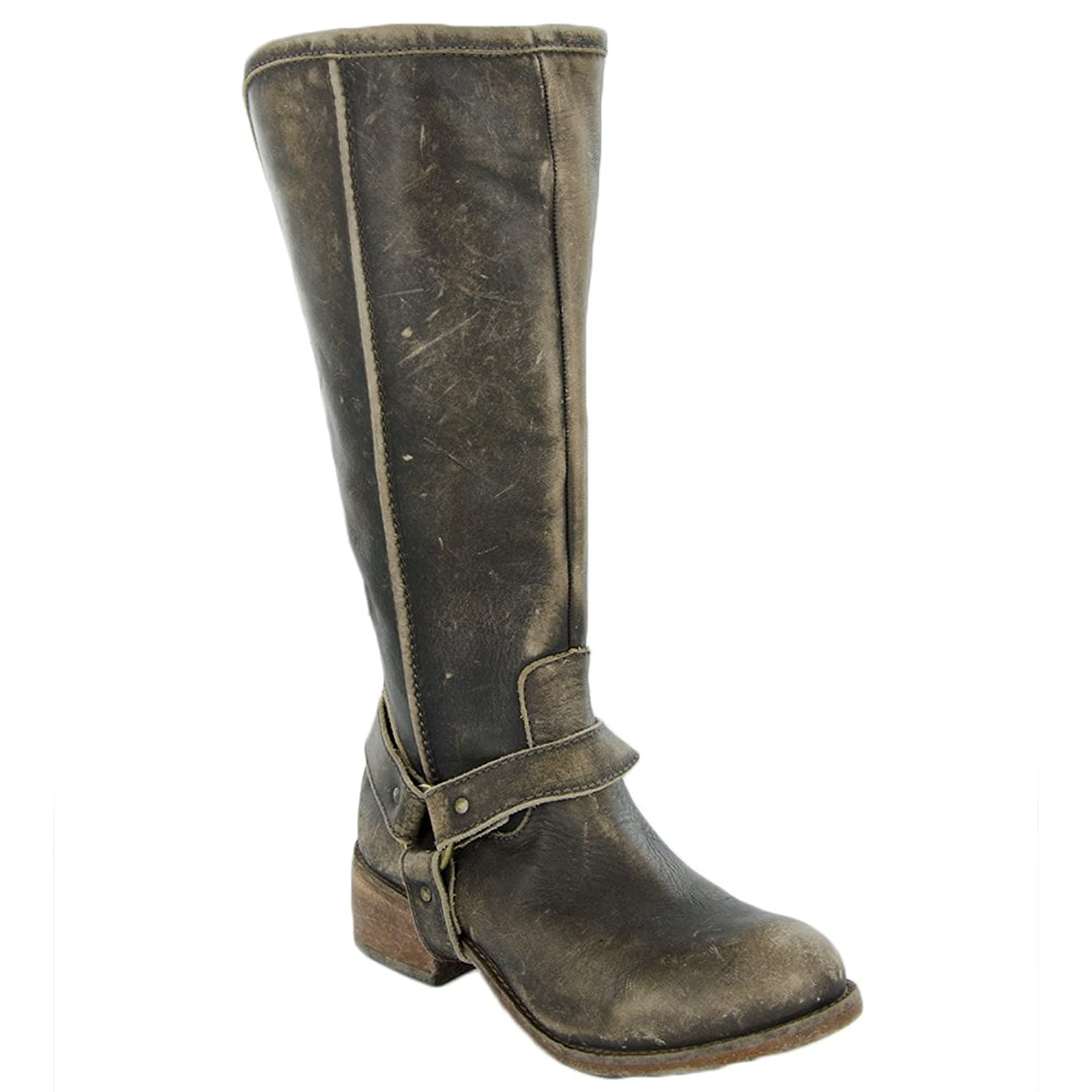 CORRAL P5100 Distressed Brown Tall Harness Boots with Zip Back B012T2R9LY 7.5 B(M) US