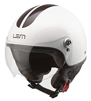 Amazon.es: Casco Moto LEM - Roger Go Fast, BLANCO BRILLO CON ...