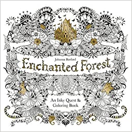Adult Coloring Book Stress Relieving Patterns Enchanted Forest For Adults Relaxation Free Bonus Sheet Of Stickers Included Amazon