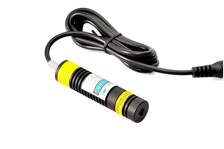Industrial Violet Blue 405nm 100mw Laser Line Diode Module 5V K9 Lens w/ Driver In 16x68mm