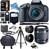 Canon EOS Rebel T7i Camera, EF-S 18-55 IS STM Lens Kit, Lexar 64GB, Ritz Gear Premium SLR Camera Bag, Polaroid Filter Kit, Flash and DigitalAndMore Accessory Bundle