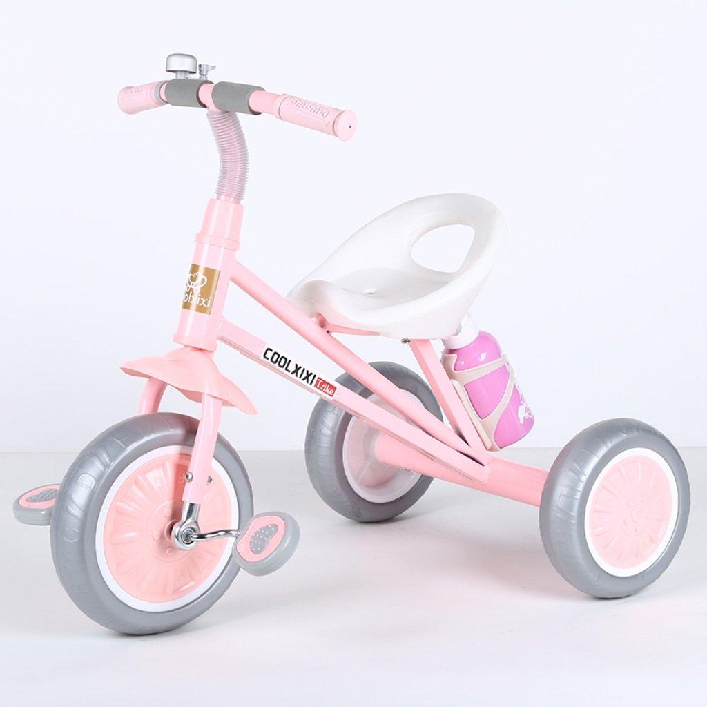 子供の三輪車2-6歳の赤ちゃんバイクおもちゃの車若い子供たちの自転車、ピンク、黒、シアン、グリーン ( Color : Pink ) B07C87RZ34