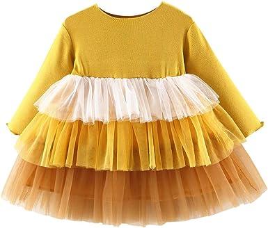 ZOREFINE 🤠 Vestido de Niñas Otoño e Invierno Falda de Tutú de ...