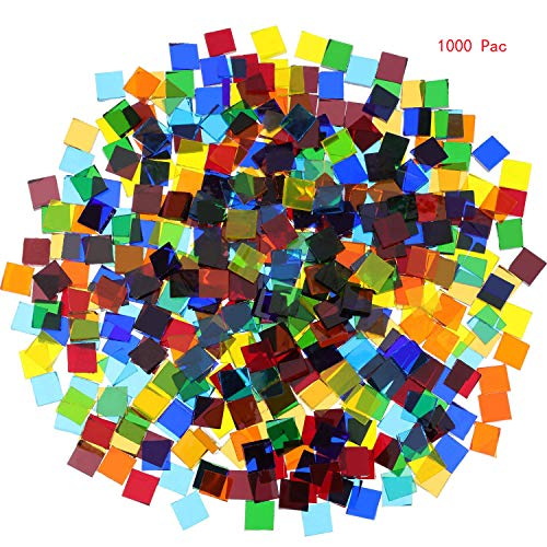 MosaicTilesMixedColorMosaicGlassPiecesforHomeDecorationorDIYCrafts1000PiecesSquare