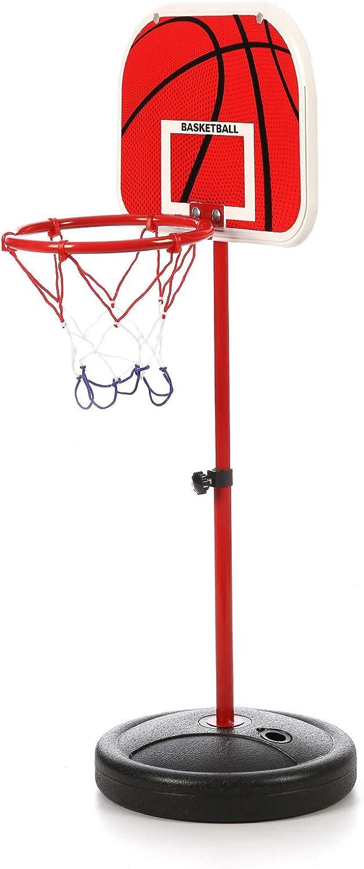 Basketballkorb Pumpe Basketballst/änder Ballbasketballnetz Sport 65-150cm MorNon Kindersportspiel Kinderbasketballanzug