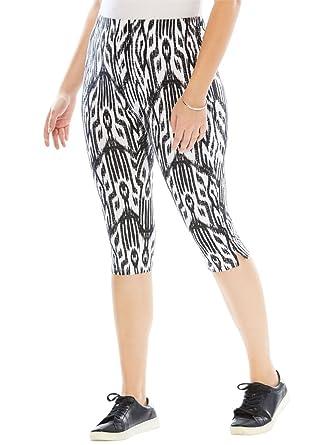 89e7d8c6cc5 Roamans Women s Plus Size Printed Capri Leggings at Amazon Women s ...