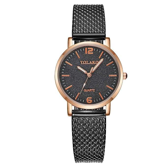Mymyguoe Correa de Acero de Moda Reloj Reloj de Pulsera Hombre Reloj de Cuarzo Reloj Mujer Unisex Reloj de Pulsera Reloj Mujer Reloj analogico Reloj de ...