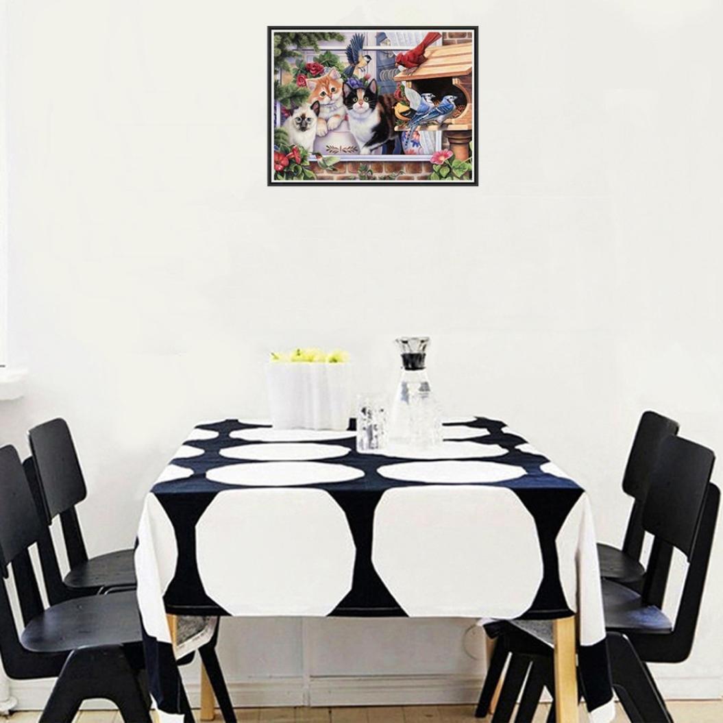sunnymi Tier Eule Muster 5D Diamond Painting Weihnachten★Kreuzstichhausdekoration//Crystal Paste Tool//Kreatives Art und Weise Geklebte Stickerei DIY Malerei a, 40cm*30cm
