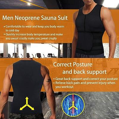 Men Thermo Body Shaper Slimming Waist Belts Sauna Vests Fat Burning Loss Weight