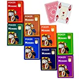 8 decks Modiano Cristallo 4 PIP Jumbo Index 100% Plastic Playing Cards