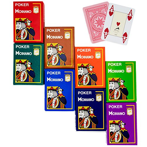 8 decks Modiano Cristallo 4 PIP Jumbo Index 100% Plastic Playing Cards by Brybelly