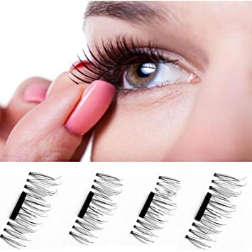 131a6350ef5 Amazon.com : 4 pcs/pairs magnetic eyelashes extension eye beauty makeup  accessories soft hair magnetic eyelashes dropship false eyelashes : Beauty