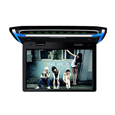 10.1 inch Car Overhead Monitor 1080P Video HD Digital TFT Screen Wide Screen Ultra-Thin Mounted Car Roof Flip Down Player HDMI IR FM USB SD: Car Electronics