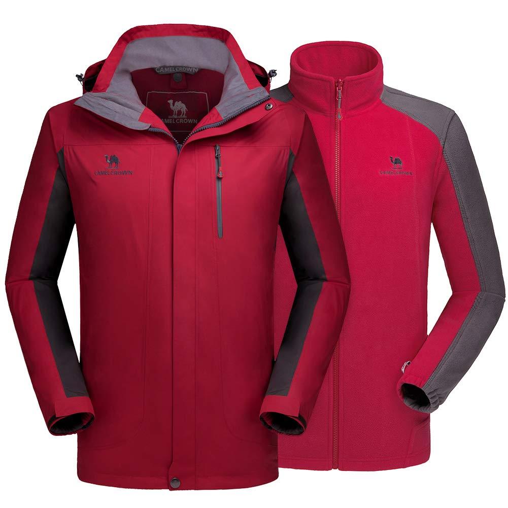 c64c687a Galleon - CAMEL CROWN Men's Ski Jacket 3 In 1 Waterproof Winter ...