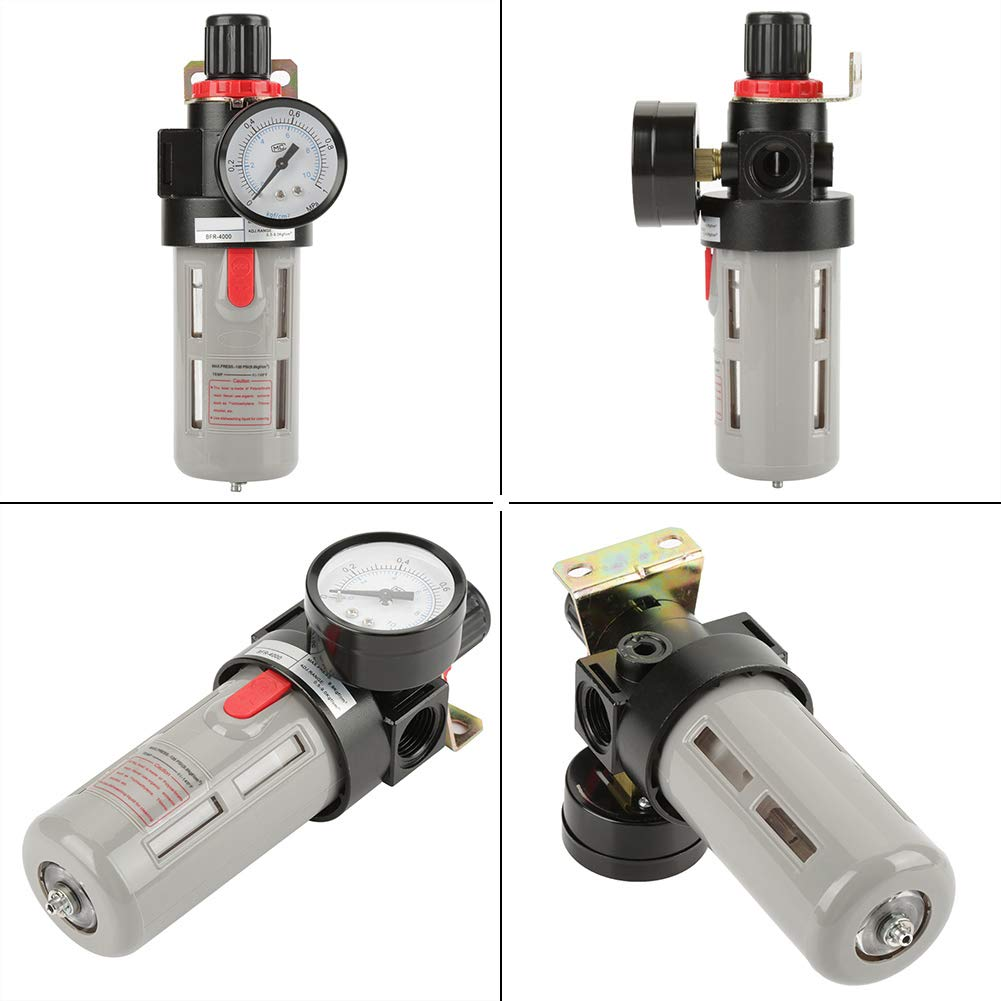 Fevas G1//2 BFR4000 Air Filter Regulator Kit Air Source Gas Treatment Unit Filter Pressure Regulator with Gauge Wholesale
