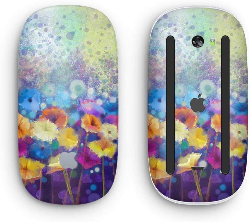 with Multi-Touch Surface Abstract Flower Meadow v2 Wireless, Rechargable Design Skinz Premium Vinyl Decal for The Apple Magic Mouse 2