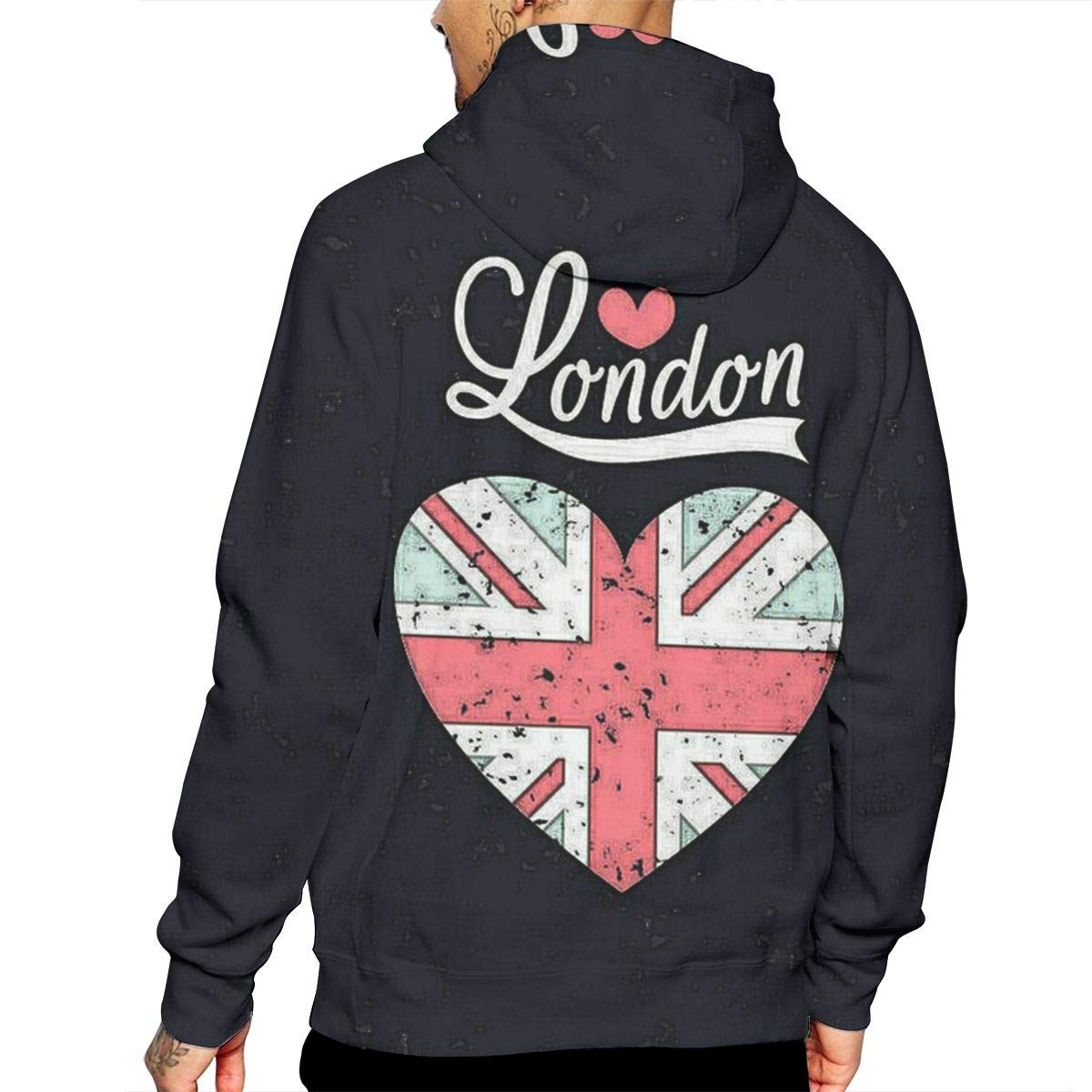 Love London T-Shirt Hooded with A Pocket Rope Hat Customization Fashion Novelty 3D Mens