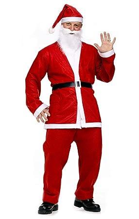 Talla única - Traje - Papá Noel - Adulto - Hombre - Disfraz ...