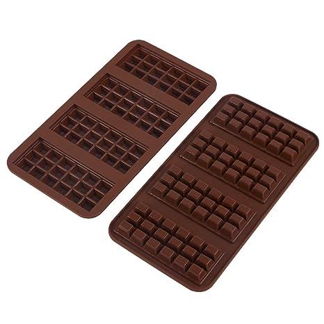 webake Molde de chocolate de silicona Juego de 2 formas de silicona de platino de alta