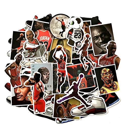 6776084da8a215 EMMI 52pcs Not Repeat Basketball Stars Sneakers Notebook Bike Luggage Box  Tide Brand Shoes Jordan Graffiti