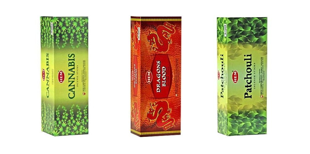 Hemお香のボックス3のバンドル120 Sticks (合計360 Sticks ) グリーン B06XKB4QSV Cannabis, Dragons Blood, Patchouli