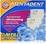 Arm & Hammer Mentadent Advanced Whitening Toothpaste, Twin Refills, 10.5 Ounce (2 pack)