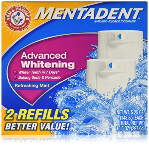 Arm & Hammer Mentadent Advanced Whitening Toothpaste, Twin Refills, 10.5 Ounce (2 pack) by Arm & Hammer