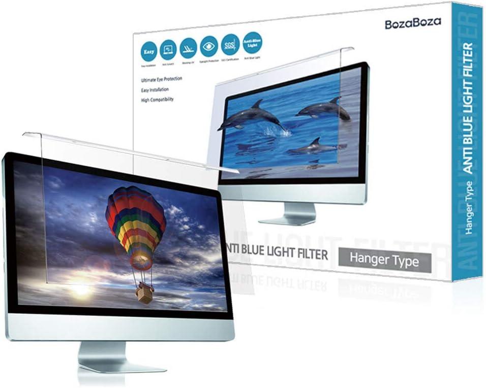 "(BozaBoza) Acrylic Anti Blue Light Screen Protector 17"" Easy On/Off (for 17"" Universal Diagonally Measured 16 : 9/16 : 10 Aspect Ratio) Filtering Out Blue Light for Laptop, Notebook, Monitor"