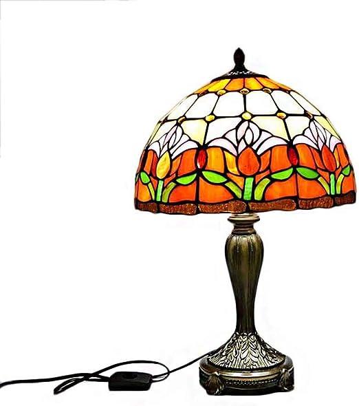 Lámparas De Mesa Estilo Tiffany, Lámpara Pastoral De Vitrales ...