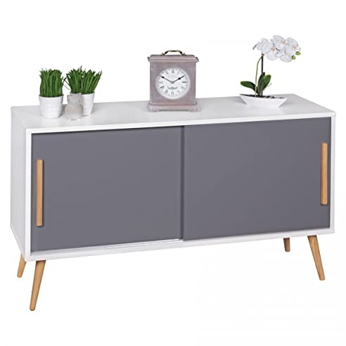 FineBuy Sideboard mit Schiebetüren Skandinavisches Design 120 x 70 ...