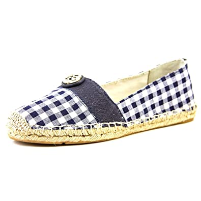 Tory Burch Espadrille Flat Canvas Shoes Sneakers Lonnie and Beacher (7,  Beacher Bright Navy