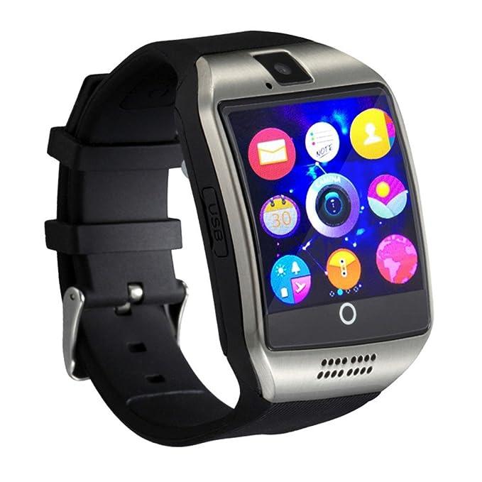 Ablebro 1.54 pulgadas bluetooth Smartwatch Q18 reloj de pulsera soporte NFC Cámara TF tarjeta Reloj Inteligente para Teléfono Android iOS iPhone ...