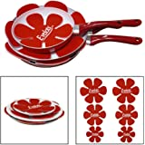Evelots Pan & Dish Scratch Protector Pads For Cookware/Dishware, Red- Set of 6
