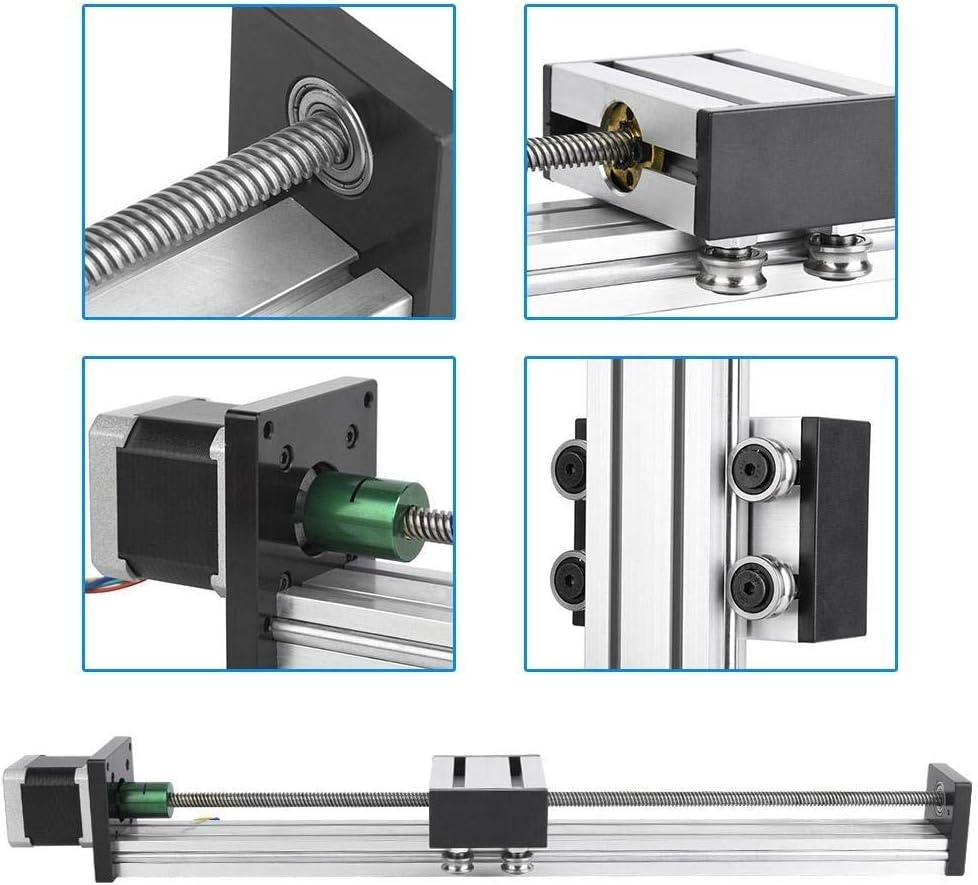 0808 Ball Screw Long Stage Actuator Sliding Table Nema17 42 Stepper Motor LHQ-HQ Ball Screw Guide 600mm